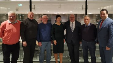 v.l.: Horst Bischhoff (WOB), Rüdiger Künne (WOB), Alfred Falkenberg (LFG Ni./Br.), Immacolata Glosemeyer (MdL, SPD), Rüdiger Kauroff (MdL, SPD), Rudi Thielert (WOB), Tobias Heilmann (MdL, SPD).